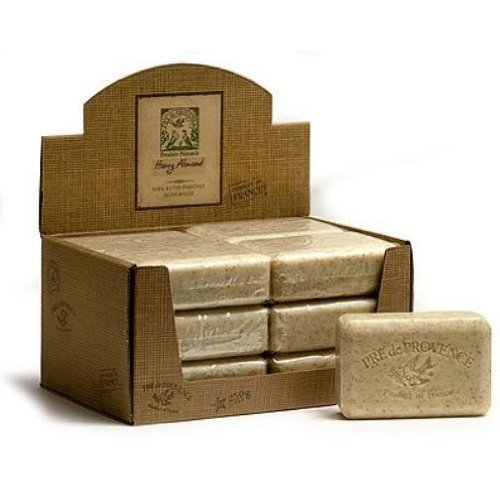 Pre de Provence 250 gram Honey Almond Shea Butter Enriched Milled Soap, Case of 12