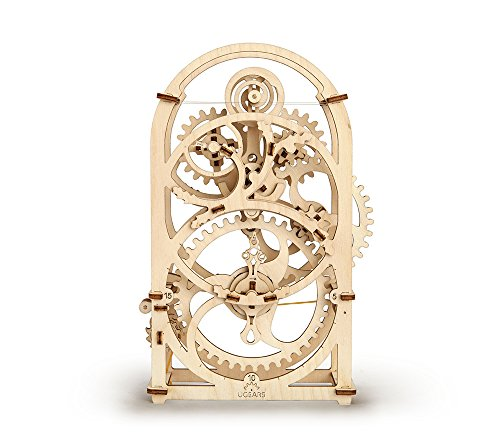 Timer Ugears - Mechanical Wooden Model, Self-Assembling Brainteaser Teens Adults, Perfect Gift, DIY