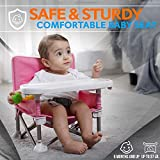 Qisebin Baby Seat Booster High Chair, Pink