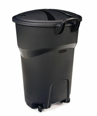Rubbermaid Roughneck 32 Gal. Black Wheeled Trash Can with Lid-FG5H9848BLA​ - The Home Depot