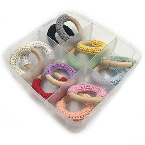 【通販激安】 Amyster 12pcs 5cm(1.97'')Wooden Teether Baby Crochet 5cm(1.97'')Wooden Teething B077Q8XZLY Toy Natural Maple Cotton Wooden Ring Charms Chunky Crochet Ring Baby Teether DIY Baby Teether Accessories (A159) [並行輸入品] B077Q8XZLY, 買援隊2号店:101f8389 --- beyonddefeat.com