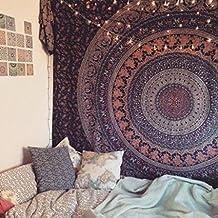 Popular Twin Hippie Indian Tapestry Elephant Mandala Throw Wall Hanging Gypsy Bedspread By Popular Handicrafts by Popular Handicrafts