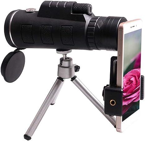 FNIANC 40x60 monocular telescopio, de Alta Potencia BAK4 Prism Lente FMC Alcance Impermeable con el Adaptador del Smartphone Soporte del trípode para como observación de Aves, Viajes, Deportes, etc: Amazon.es: Deportes y