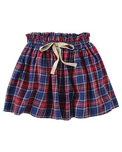 OshKosh B'Gosh Big Girls' Twill Plaid Skirt, 14 Kids -