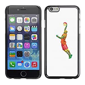 Super Stellar Slim PC Hard Case Cover Skin Armor Shell Portection // V0000609 Basketball Player Polygon Drawing // Apple Iphone 6 4.7