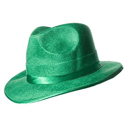 Green Vel-Felt Fedora Party Accessory (1 count) (1/Pkg) (Vel Felt Fedora)