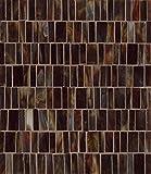 Bedrosians GLSRETMAHRMP ''Retrospect'' Mosaic with Random Pattern, 12'' x 13'', Mahogany Blend
