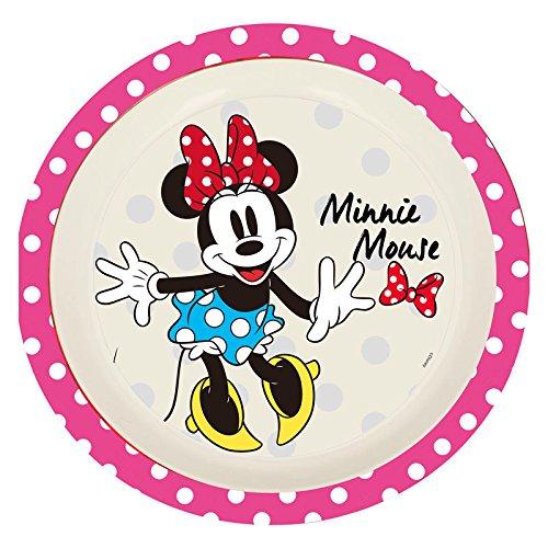 Elemed 1281 Disney Assiette en Bambou Ecologique Minnie Mouse