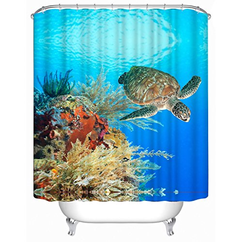 60 X 72 Inches · Get Orange Polyester Terylene Waterproof Shower Curtain,  Thicken Curtain With 12pcs Plastic Hooks , 72 Sea Turtle Shower Curtain