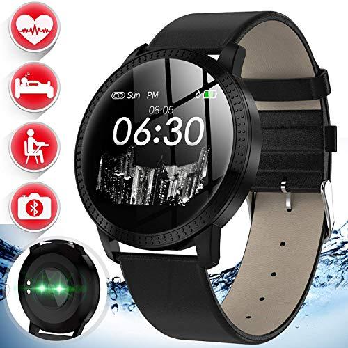 Smart Watch Activity GPS Tracker Fitness Watch with Heart Rate Monitor Blood Pressure Watch Men Women Outdoor Waterproof Sport Watch Calorie Pedometer Smart Wristband Swim Electronic Birthday Gifts