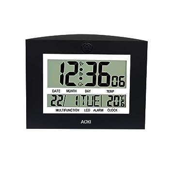 Aoki - Reloj Digital de Gran tamaño, de Pared, Mesa, Escritorio, Muestra