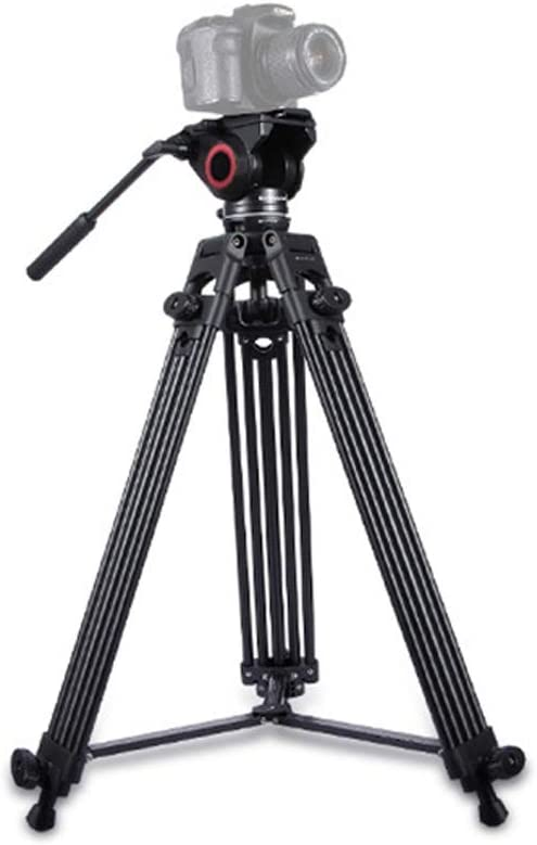 Adjustable Height Aiyawear Stick Tripod Heavy Duty Video Camcorder Aluminum Alloy Tripod for DSLR//SLR Camera Color : Black, Size : One Size 62-140cm