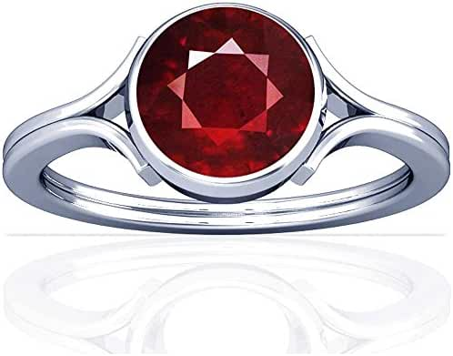 Platinum Round Cut Ruby Solitaire Ring (GIA Certificate)