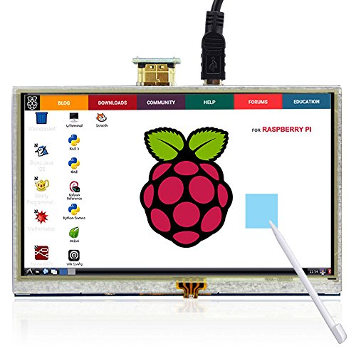 Elecrow RPA05010R HDMI 5-Inch 800x480 TFT LCD Display with Touch Screen Monitor for Raspberry Pi B+/2B/3B (Monitor Small Touch Screen)