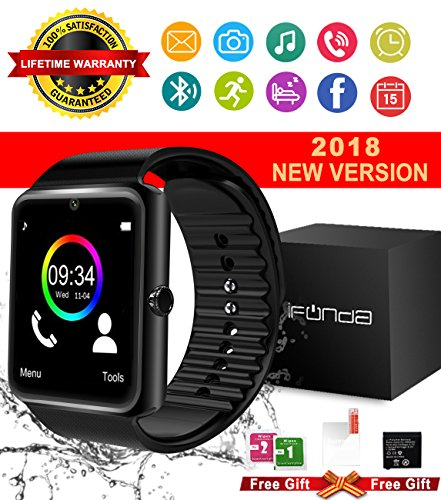 Bluetooth Smart Watch With Camera Touch Screen Smartwatch Unlocked Smart Wrist Watch With Sim Card Slot Fitness Tracker For Android Smartphone Samsung IOS Apple Iphone 7 8 X Sony Men Women Kids