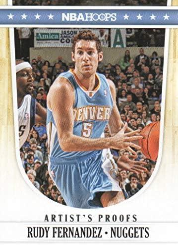 [해외]2011-12 Panini NBA Hoops Basketball Artist`s Proofs 40 Rudy Fernandez Denver Nuggets / 2011-12 Panini NBA Hoops Basketball Artist`s Proofs 40 Rudy Fernandez Denver Nuggets