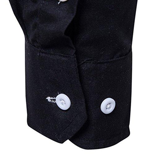 Otoño E Cómodo Costura Invierno Delgado Hombre Larga Camisa Top Cebbay Un Traje Moda Manga Negro Negocios Con Casual De gO8nx7Pw