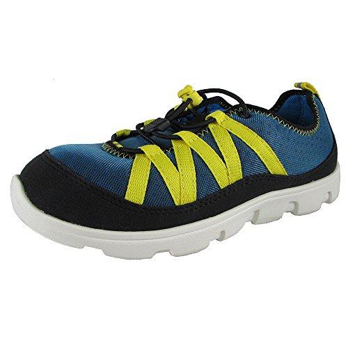 port Bungee Sneaker Shoes, Ocean/Lemon, US 6 Big Kid ()