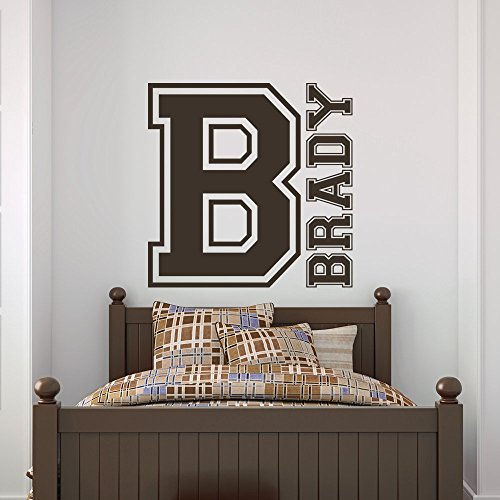 Sports Custom Name Vinyl Wall Decal Sticker Art for Boys
