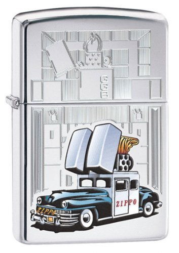 (Zippo Car & Building Lighter, High Polish Chrome)