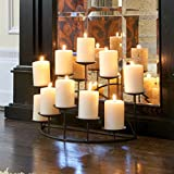 Southern Enterprises 10 Candle Candelabra, Matte Black Finish