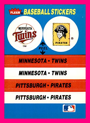 1987 Fleer Team Stickers MINNESOTA TWINS PITTSBURGH PIRATES BOSTON RED SOX    (1987 Twins Team)