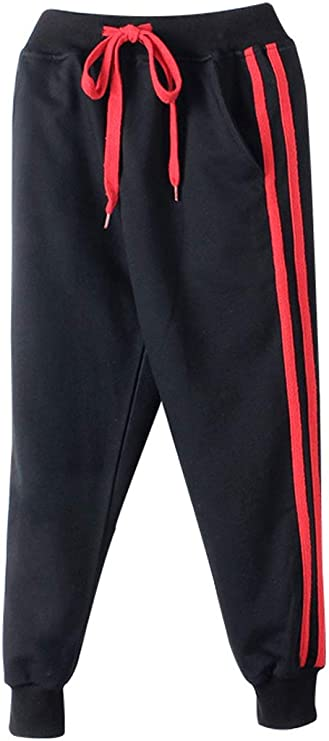 LittleXin OneBoy Kids Boys Girls Casual Elastic Waist Sports Trousers Active Pants Age 5-13 Years