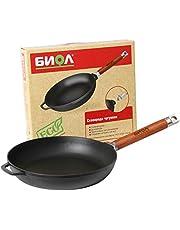 Gjutjärnspanna / stekpanna hälsosam matlagning 20, 22, 24, 26 cm avtagbart handtag induktion