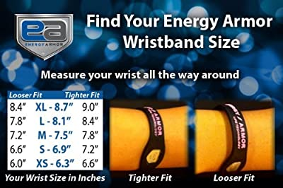 "Energy Armor - Best Negative Ion Silicone Wristband for kids- Enhance your sports performance with Greater Balance, Power & Flexibility (Black/Bronze, X-Small (6.3"")"