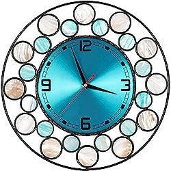 Wall Clock, 15 Wall Clock Seashells Decorative Original Ecology Creative Style Large Clock.
