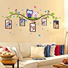 Wowall Owls Tree Branch Picture Frame Wall Decals