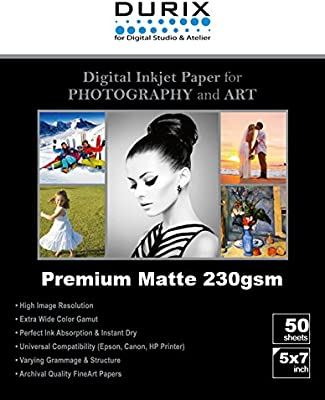 Amazon Com Durix Premium Matte 230gsm Digital Inkjet Photo Paper