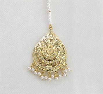 Amazoncom Jadau Gold Tikka Indian Tikka Ethnic Tikka Jewelry