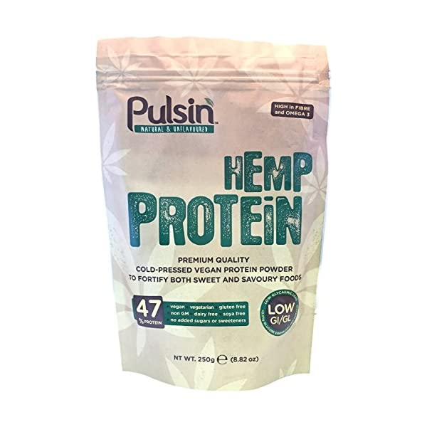 (12 PACK) – Pulsin Hemp Protein (Natural Unsweetened Unflavoured)| 250 g |12 PACK – SUPER SAVER – SAVE MONEY