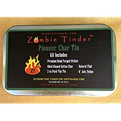 Pioneer Char Tin, Flint & Steel Fire Kit, Zombie Tinder