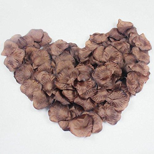 - EMAXELER [Broken Girls Flowers]1000pcs Coffee Silk Rose Flower Petals for Wedding Table Confetti Bridal Party Flower Girl Decoration 1000pcs Coffee