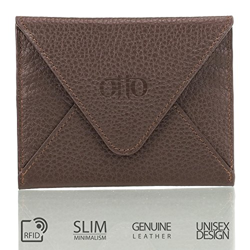 Otto Genuine Leather Wallet – Multiple Slots |Money, ID, Tickets, Cards| Unisex (Dark Brown)