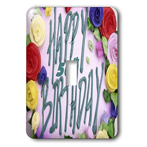 3dRose Florene Special Events - Happy 50th Birthday.png - Light Switch Covers - single toggle switch (lsp_52359_1)