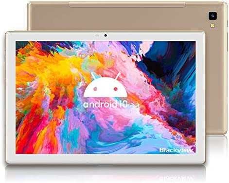 Blackview Tab8 Tablet, Android 10 Octa-Core Processor Android Tablet, Full HD 1920x1200, 4GB+64GB Storage, 13MP+5MP Cameras, Bluetooth 5.0, 6580mAh Battery, 5G WiFi, Gold