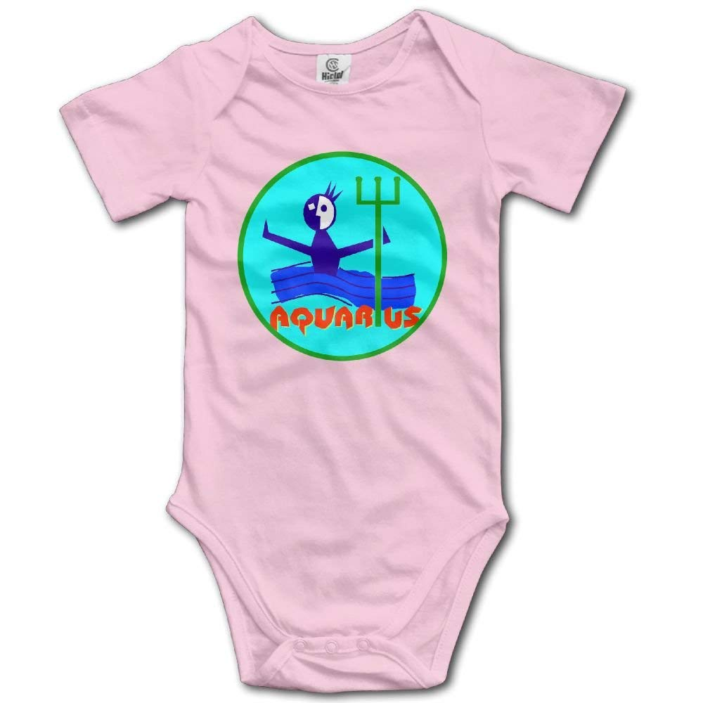 Funny Aquarius Casual Newborn Babys 0-24 Months Baby Climbing Clothing Baby Creeper for Toddler Boys Girls