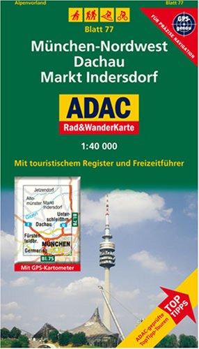 München-Nordwest, Dachau, Markt Indersdorf: 1:40000. Alpenvorland. GPS-genau (ADAC Rad- und WanderKarte)