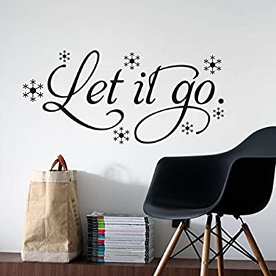 Iuhan® Fashion New Let It Go Kid's Room Snow Vinyl Frozen Wall Sticker Home Wall Words Decor