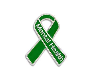 Fundraising For A Cause Mental Health Awareness Green Ribbon Pin in a Bag  (1 Pin - Retail)
