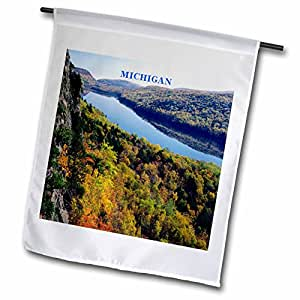fl_61957_1 Florene America The Beautiful - Porkupine Mt Michigan - Flags - 12 x 18 inch Garden Flag