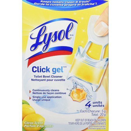 Lysol Automatic Toilet Bowl Cleaning Click Gel, Citrus Scent, 4 Count (Pack of 3) (Lysol Cling Toilet Bowl Cleaner)