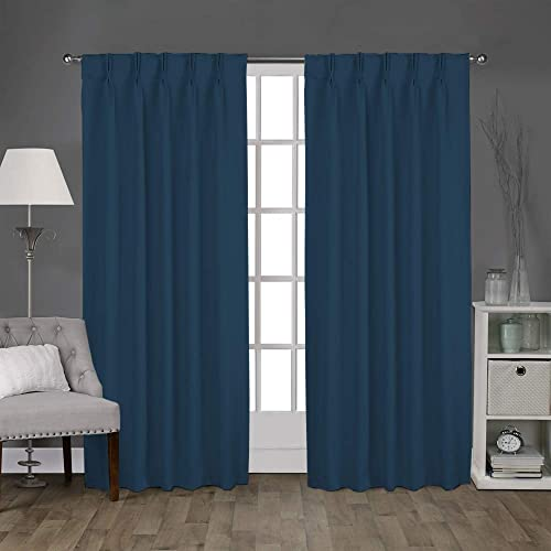 Magic Drapes Home d cor 100 Polyester Double Pinch Pleated Blackout Window Curtain Panels Drapes and Thermal Insulation