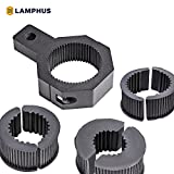 "LAMPHUS Cruizer LED Off-Road Light Vertical Bar Clamp Mounting Kit 1""/ 1.5""/ 1.75""/ 2"" [1 Clamp] [Includes Allen Hex Key] [User-friendly] - For Light Bar Bull Bar Tube Clamp Roof Roll Cage Holder"