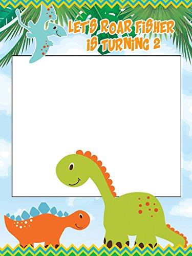 rs Birthday Photo booth Frame Prop - Sizes 36x24, 48x36; Dinosaur Party Photo Booth, Dino Photo Booth, Dinosaur Frame, Kids Birthday ()
