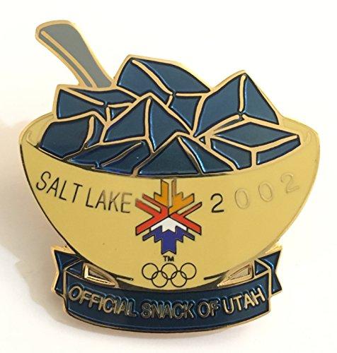 2002 Salt Lake City Winter Olympics Original Small Blue Jello Official Snack of Utah Pin (2002 Olympic Pins)