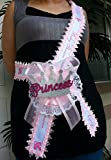 Baby Shower Mom To Be It's a Girl Sash with Princess Crown Pink Ribbon Corsage